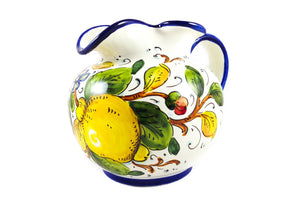 Borgioli - Lemons on White - Round Pitcher