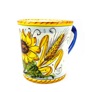 Borgioli - Sunflower on White Mug