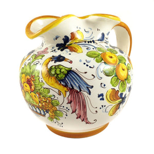 Borgioli Birds of Paradise Round Pitcher
