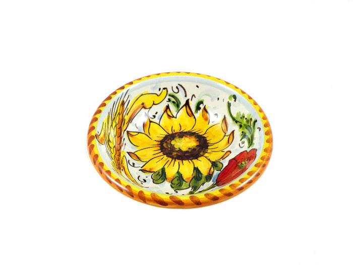 "Borgioli - Sunflower on White - Pinzimonio - 10cm (3.9"")"