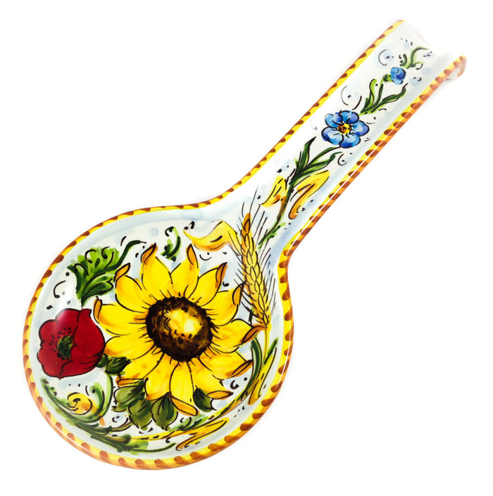 Borgioli - Sunflower on White - Spoon Rest