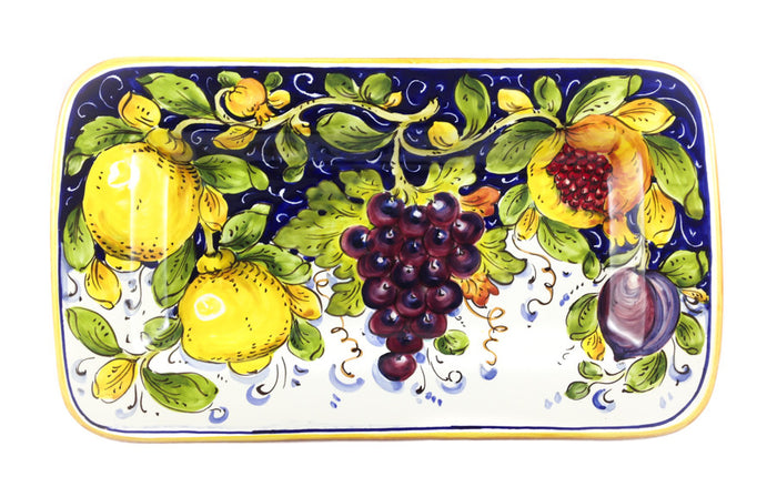 "Borgioli Mixed Fruits Rectangular Platter - 34cm x 20cm (13.4"" x 7.9"")"