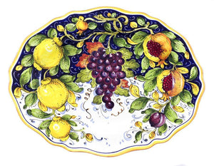 "Borgioli - Mixed Fruits - 34cm x 45cm Oval Platter (13.4"" x 17.7"")"