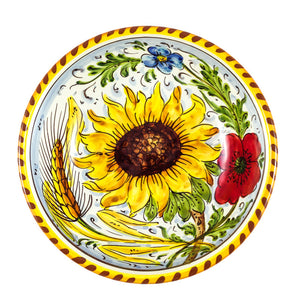 "Borgioli - Sunflower on White Salad Bowl 20cm (7.9"")"