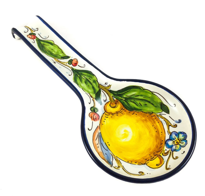 Borgioli Lemons on White Spoon Rest