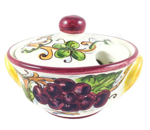 Borgioli Grapes Sugar Bowl