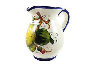 Borgioli - Lemons on White - 250ml Pitcher (8.5 fl oz)