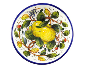 "Borgioli - Lemons on White - Salad Bowl 20cm (7.9"")"