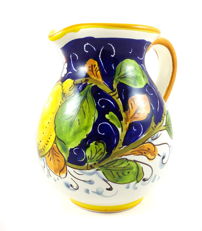 Borgioli Lemons on Blue Pitcher - 1L (33.8 fl oz)