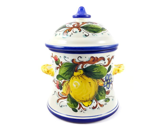 Borgioli - Lemons on White - Large Canister