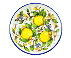 "Borgioli - Lemons on White - Salad Bowl 30cm (11.8"")"