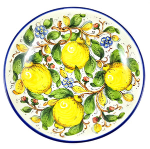 "Borgioli Lemons on White Salad Bowl - 35cm (13.8"")"