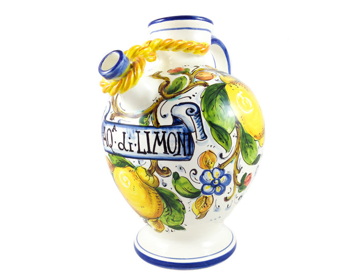 Borgioli - Lemons on White - Knotted Pitcher