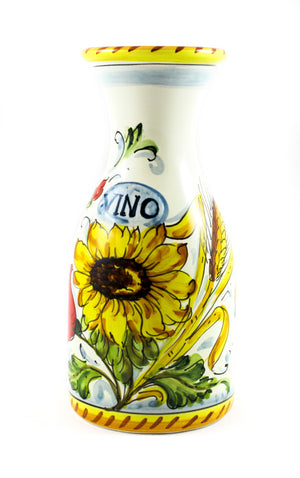Borgioli - Sunflower on White - 500ml Wine Bottle (16.9 fl oz)
