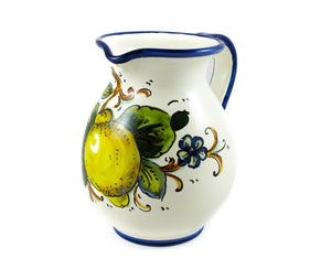 Borgioli - Lemons on White - 500ml Pitcher (16.8 fl oz)
