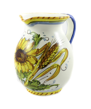 Borgioli - Sunflower on White Pitcher 1L (33.8 fl oz)