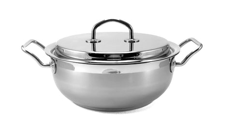 Silga Teknika World's Best Stainless Steel Cookware Risotto Pot 24cm Bombatina