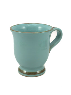 Aqua mug made by hand outside Florence, Italy by Ceramiche Fiorentine