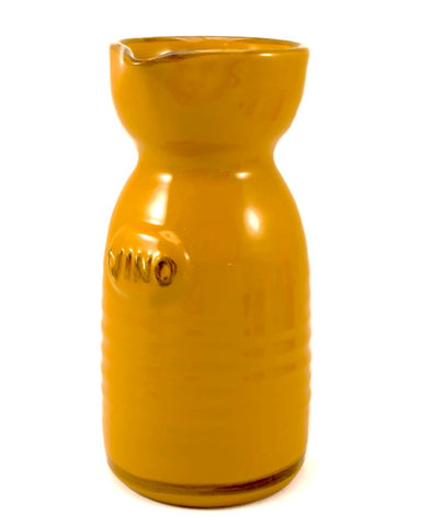 Yellow Wine Carafe made by hand outside Florence, Italy by Ceramiche Fiorentine