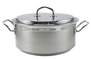 Silga Teknika World's Best Stainless Steel Cookware Saucepan or Casserole with a lid - 7.3 litres