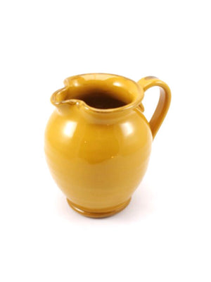 Yellow Round Body Pitcher made by hand outside Florence, Italy by Ceramiche Fiorentine
