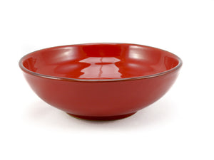 Red 30cm Bowl for Serving made by hand outside Florence, Italy by Ceramiche Fiorentine
