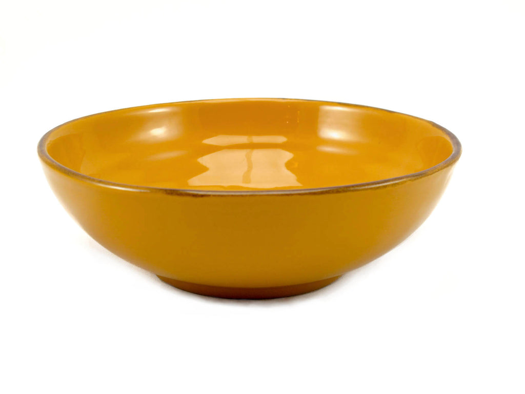 Yellow bowl for soup or pasta made by hand outside Florence, Italy by Ceramiche Fiorentine