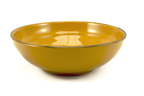 Yellow 25cm Bowl for Serving made by hand outside Florence, Italy by Ceramiche Fiorentine