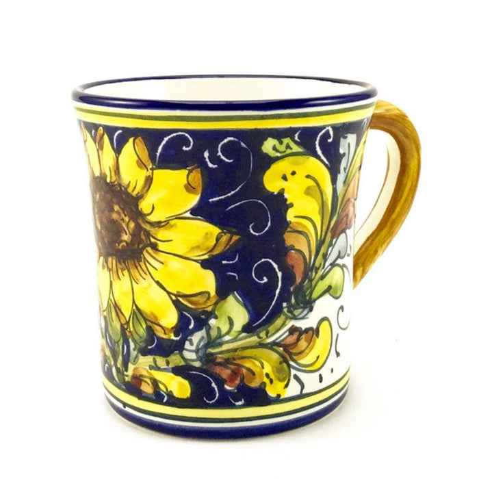 Borgioli - Sunflower on Blue Mug