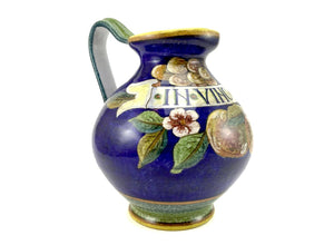 "Gialletti & Pimpinelli Fruit on Blue ""In Vino Veritas"" Pitcher"
