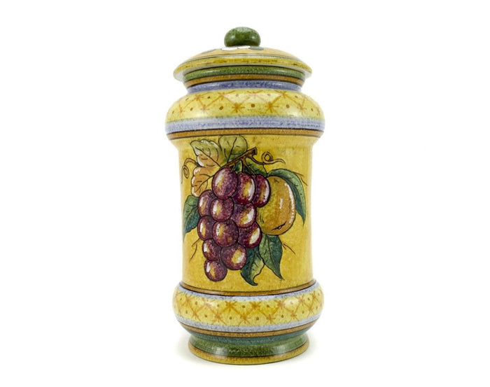 Gialletti & Pimpinelli Fruit on Yellow Large Canister
