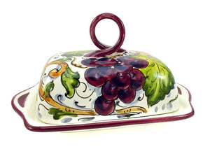 Borgioli - Grapes - Butter Dish
