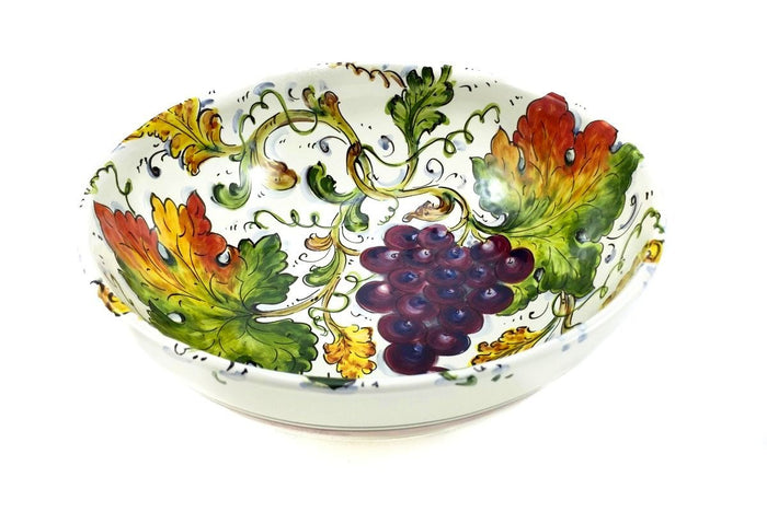 "Borgioli Grapes Salad Bowl - 25cm (10"")"