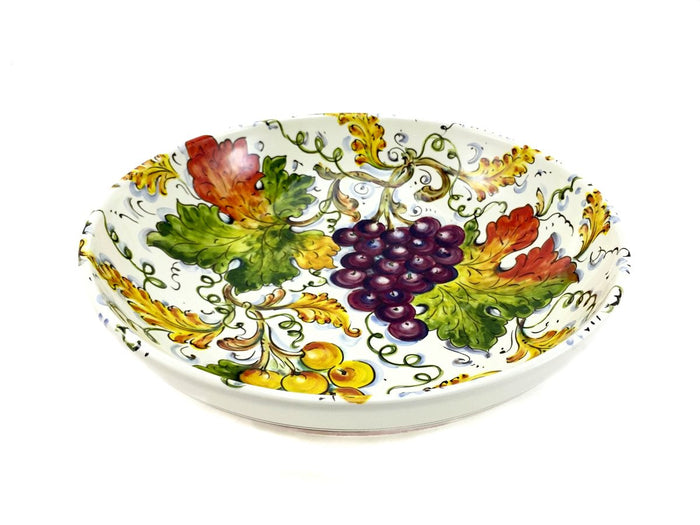 "Borgioli Grapes Salad Bowl - 30cm (11.8"")"