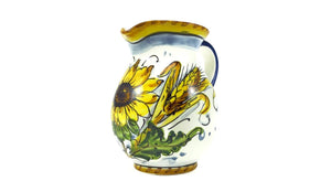 Borgioli - Sunflower on White Pitcher 250ml (8.5 fl oz)