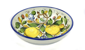 "Borgioli - Lemons on White - Salad Bowl 25cm (9.8"")"