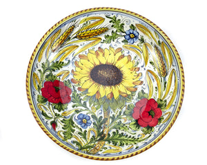 "Borgioli - Sunflower on White Salad Bowl 35cm (13.8"")"