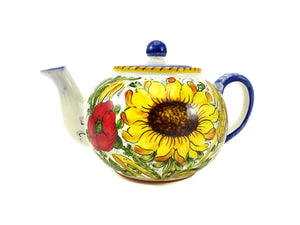 Borgioli Sunflower on White Tea Pot