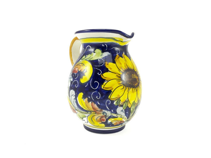 Borgioli Sunflower on Blue Pitcher - 500ml (16.9 fl oz)