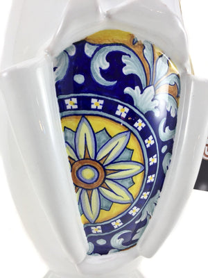 Gialleti & Pimpinelli Surprise Vase - Hand Painted in Deruta - Close up
