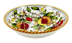 "Borgioli - Pomegranate on White - Salad Bowl - 30cm (11.8"")"