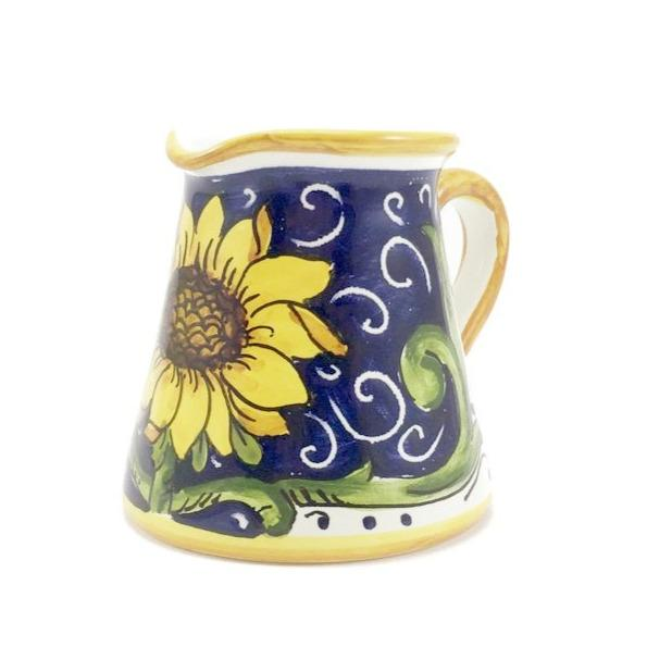 Borgioli Sunflower on Blue Small Conical Creamer