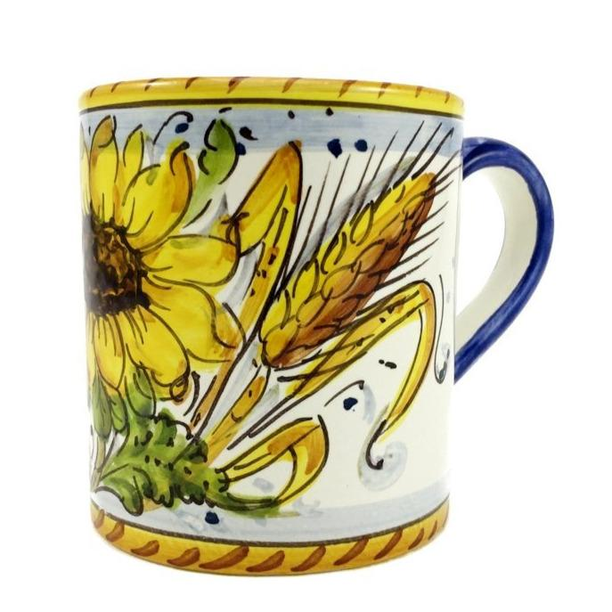 Borgioli - Sunflower on White Small Mug