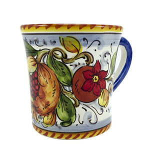 Borgioli Pomegranate on White Mug