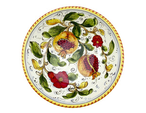 cm.25 Bowl Pomegranate on White Melograno