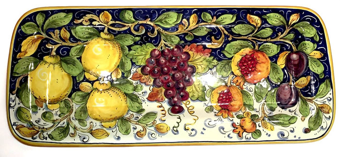 "Borgioli Mixed Fruits Rectangular Platter - 25cm x 55cm (9.8"" x 21.6"")"