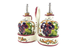 Borgioli - Grapes - Oil & Vinegar Cruet Set