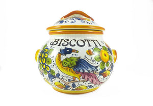 Borgioli -Birds of Paradise - Small Biscotti Jar