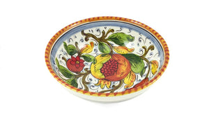"Borgioli - Pomegranate on White - Salad Bowl 20cm (7.9"")"
