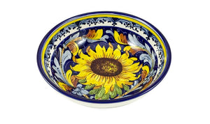 "Borgioli - Sunflower on Blue - Salad Bowl 20cm (7.9"")"